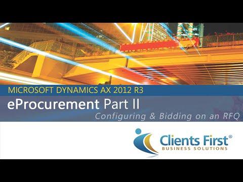 Dynamics AX 2012 R3 Video on EProcurement Part II