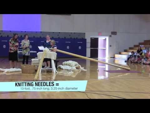 World's Record Knitting Needles and Crochet Hook Attempt