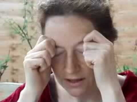Eye Acupressure Massage for good eye health & stress release, natural face lift support