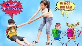 Ngày Đầu Tiên Đi Học - Bé Vui Đến Trường ♥ Min Min TV Minh Khoa