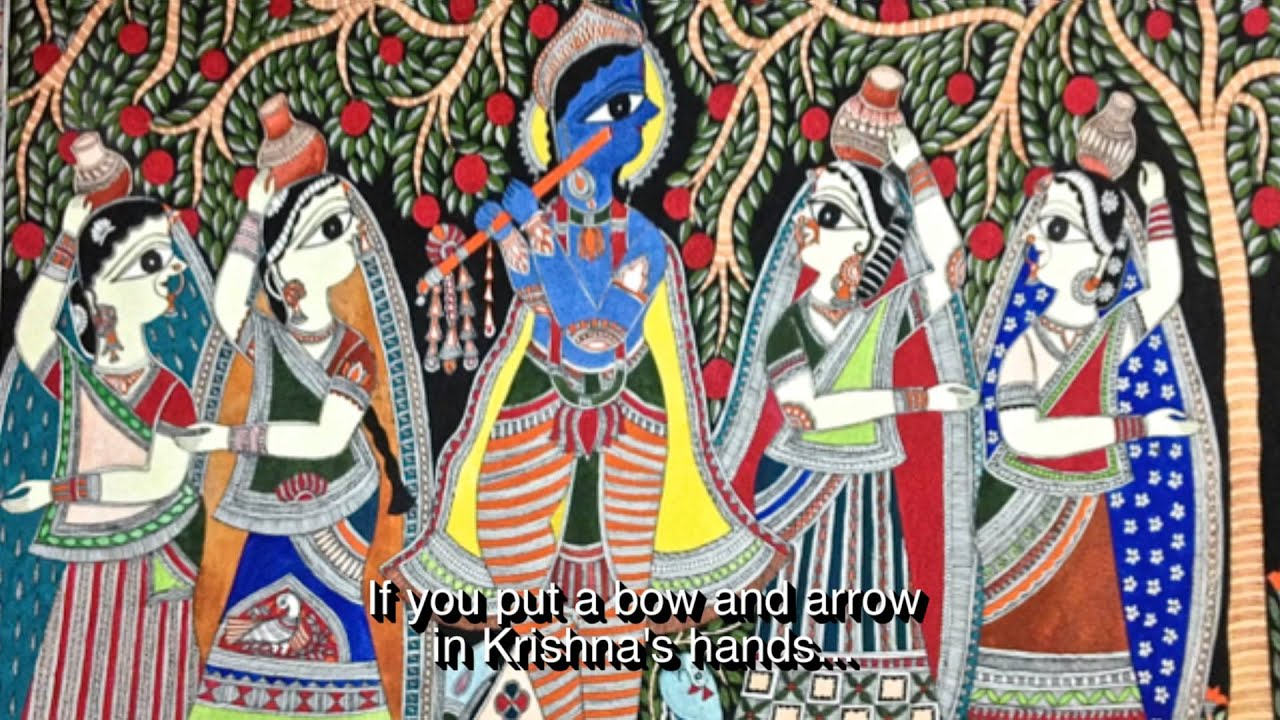 rani jha an artists approach to mithila painting youtube