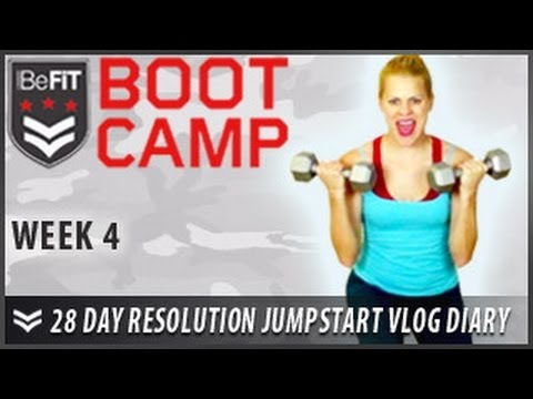 28 Day Resolution Jumpstart Workout Diary With Michelle Glavan: Week 4 - Befit Bootcamp video