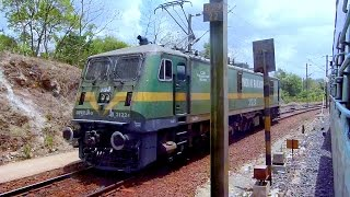 DHARAKHOH WAG9 BANKER LOCOMOTIVE WELCOMES TAMIL NADU EXPRESS