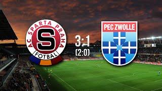 AC Sparta Praha - PEC Zwolle | 3:1 | 28.8.2014
