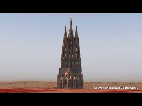 Saint Peter's church, Leuven (Louvain), Belgium - what should it look like (POVRay animation)