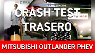 Crash Test Trasero Mitsubishi Outlander Phev