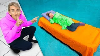 SISTER WAKES UP IN BACKYARD SWIMMING POOL PRANK!! (Best Surprise On@GRACE SHARER)