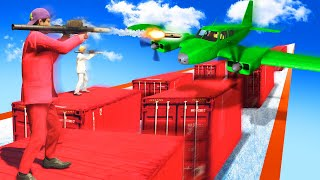 MILE HIGH CONTAINER AVALANCHE SURFING! (GTA 5 Funny Moments)