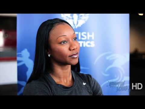 Carmelita Jeter interview - @CarmelitaJeter | @BritAthletics Birmingham GP 2013 - by Nuffin'Long TV