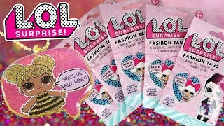 New LOL Surprise FASHION TAGS | L.O.L. Blind Bags + RARE GLITTERATI GLITTER TAGS Opening Unboxing