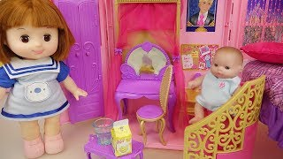 Baby doll house bag toy baby Doli transforming house play