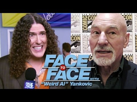 "PATRICK STEWART Interviewed at Comic-Con by ""Weird Al"" Yankovic - Face to Face"
