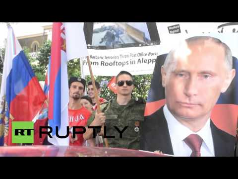 Australia: Pro-Russia protest held in front of Turkish consulate in Sydney