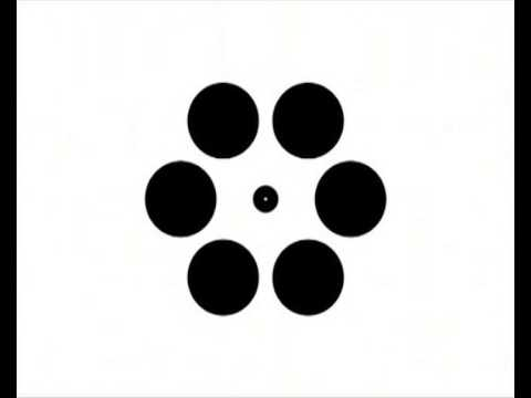 Pulsing circles create grow-and-shrink illusion