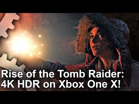 [4K HDR] Rise of the Tomb Raider Xbox One X Gamescom Demo Gameplay!
