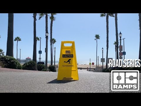 Caution Skateboarding Sign - Road Series by OC Ramps