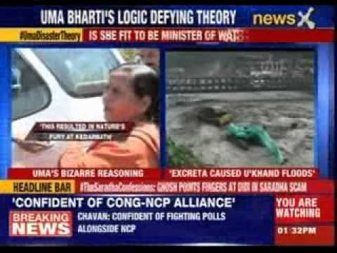 Uma Bharti's shocking explanation for Uttarakhand floods