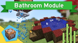 SHOWERS & HOT TUBS in Vanilla Minecraft 1.10+ | Bathroom Module Command Block Creation