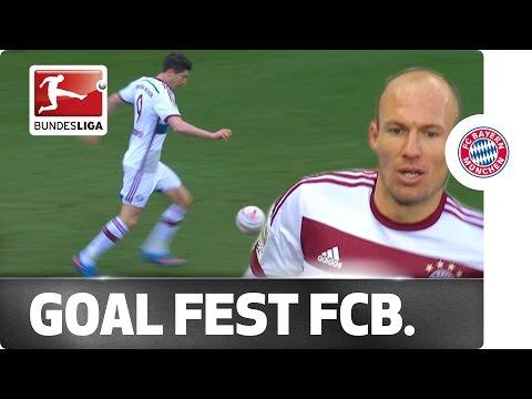 6-0! Lewandowski and Robben at the Double in Bayern Romp