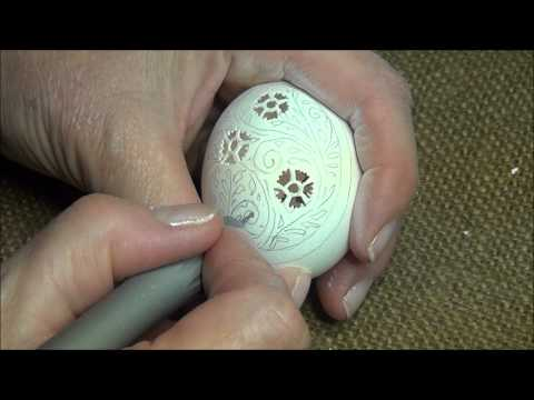 Victorian Lace Egg Carving Video from the Feathered Nest,  Bishop Hill, IL