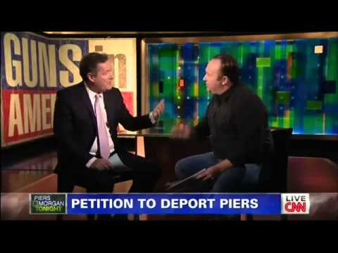 Alex Jones vs Piers Morgan On Gun Control - CNN 1/7/2013 thumbnail