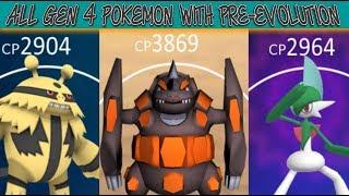 All Gen 4 Pokemon With A Pre Evolution In Pokemon Go