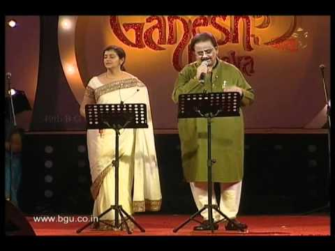 S P Balasubramaniam performing at 49th Bengaluru Ganesh utsava...