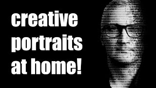 home portrait professional quality - text effects portrait tutorial - creative photo tips