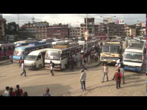 BUS PARK footage   बसपार्क   Nepal's old buspark, Kathmandu, Nepal