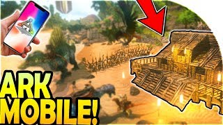 ARK SURVIVAL EVOLVED MOBILE - Starting Out + BASE BUILDING! ( ARK Survival Evolved Mobile Gameplay )