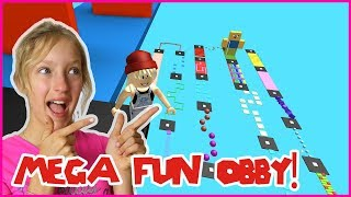 JUMPING Through STAGES in MEGA FUN OBBY!