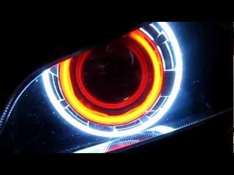 2003 - 2006 Honda CBR 600RR Projector Headlights BiXenon hid Dual Angel Eyes Halo By BKmoto