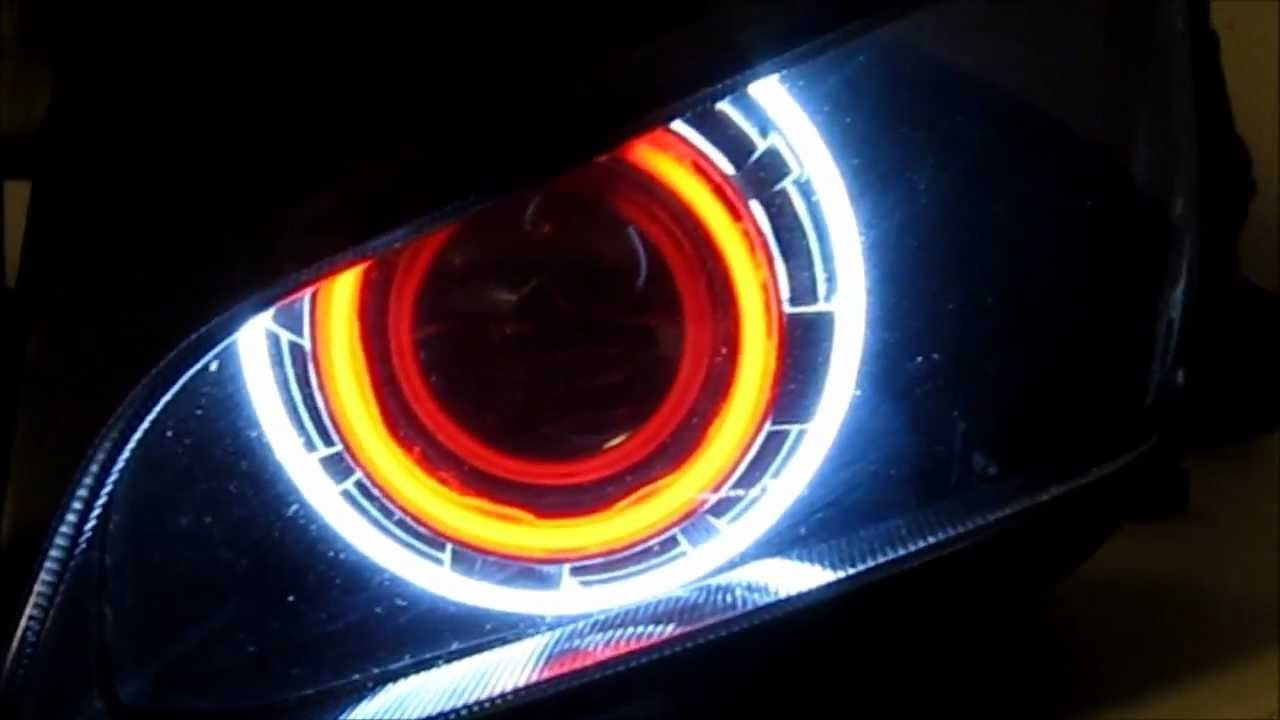 eyes demon light head angel eye headlights honda installation cbr projector halo civic led bike bikes 2003 cars attachment hid