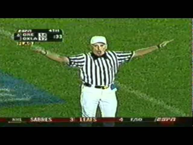 Heartbreaking INT on late comeback drive in the 2005 Holiday Bowl 12-29-05