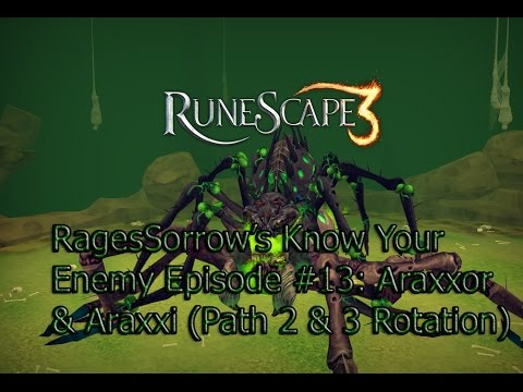 RagesSorrow's Know Your Enemy Episode #13 –  Araxxor Solo Guide W/ Range Path (2 & 3 Rotation)