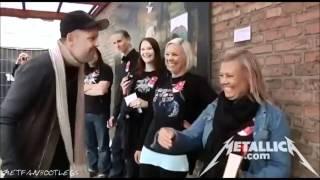 Metallica - Meet And Greet with Lars in Danish [Horsens June 6, 2012] HD