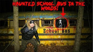 HAUNTED BUS IN THE MIDDLE OF THE FOREST *MY FRIEND ALMOST LOST HIS LIFE HERE CAUGHT ON FILM*