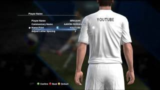 PES 2013 Create a Player and put it in a Football Club