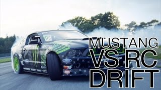Mustang GT vs RC Drift Car Battle