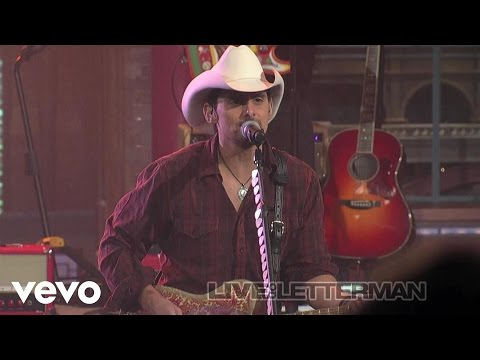 Brad Paisley - American Saturday Night (Live on Letterman)