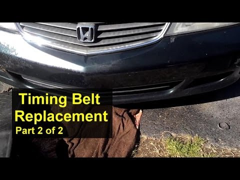 Honda Odyssey Timing Belt Replacement Part 2 of 2 - Auto Repair Series