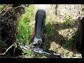 TBEC Ironstone Enduro Crash & bike stuck down steep bank 18/5/14