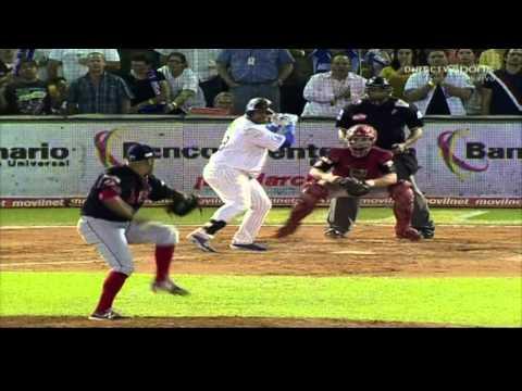 Jonrón de Pablo Sandoval, sexto juego de la final, Cardenales vs Magallanes, 29-1-13