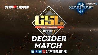 2018 GSL Season 3 Ro16, Group B, Decider Match: Dark (Z) vs GuMiho (T)
