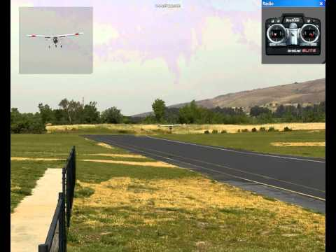 RC airplane cross wind landing