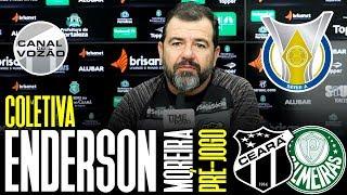[Série A '19] Coletiva Enderson Moreira | Pré-jogo Ceará SC X SE Palmeiras | Canal do Vozão