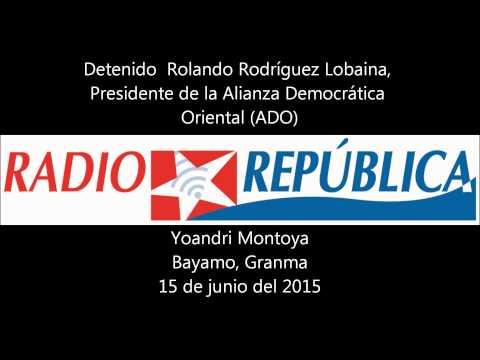 Detenido  activista Rolando Rodriguez Lobaina en Bayamo, Cuba