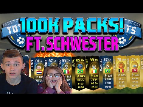 100K PACKS MIT KLEINER SCHWESTER & PACK LUCK! [FACECAM] - FIFA 15 ULTIMATE TEAM TOTS PACK OPENING