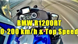 BMW R1200RT 0-200 Km/h acceleration and Top Speed