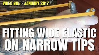 HOW TO FIT WIDE ELASTIC ON NARROW FORK TIPS - CATAPULT SLINGSHOT